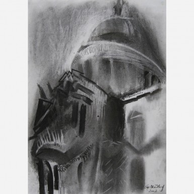 St. Paul's Cathedral No. 4 - The Hour of Mercy 2002 by Stephen B. Whatley