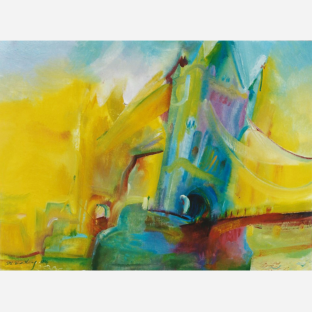 Tower Bridge - Centenary Tribute. 1994 by Stephen B. Whatley