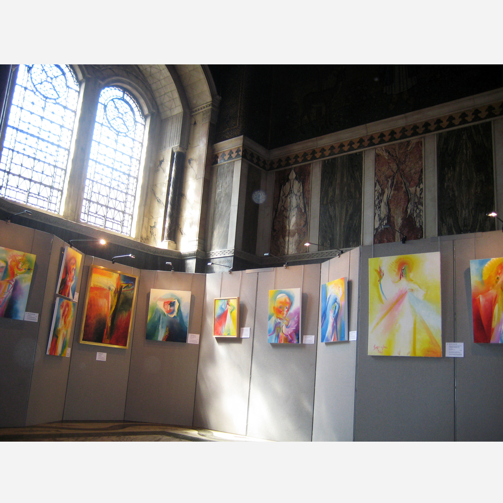 Stephen B. Whatley exhibition Paintings From Prayer at Westminster Cathedral in London. 2013