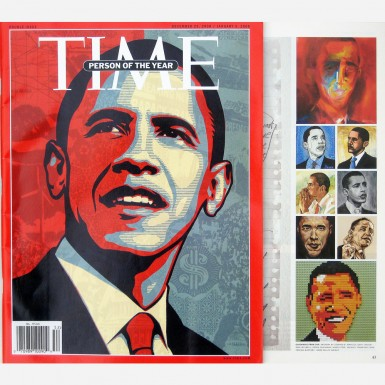 Portrait of Barack Obama by Stephen B. Whatley published in TIME magazine 2008