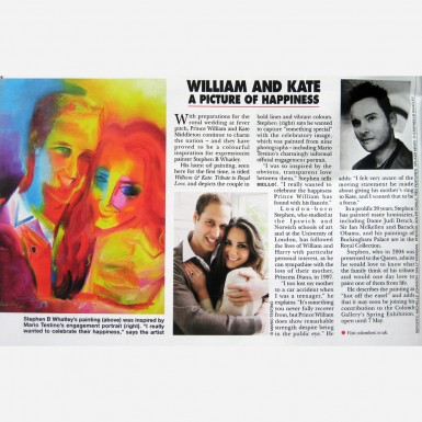 Portrait of William & Kate by Stephen B. Whatley - Royal Feature in HELLO magazine, April 2011