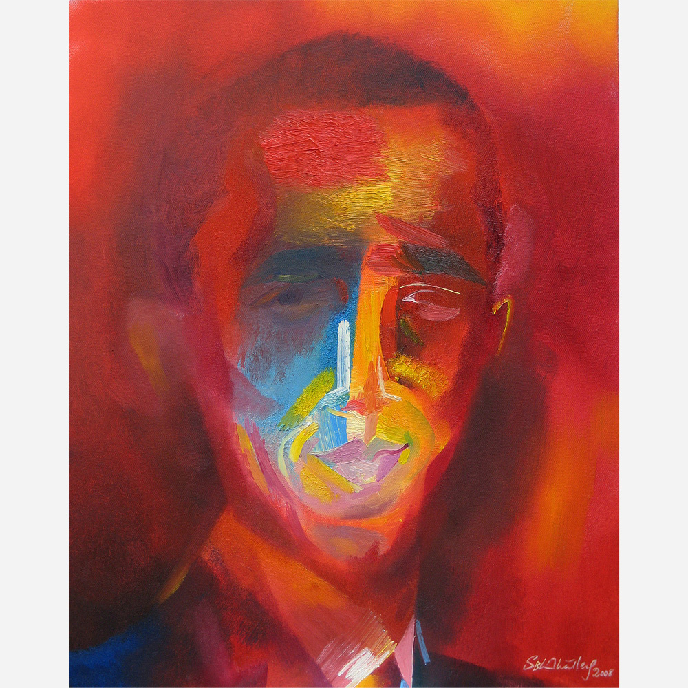 Barack Obama - painted AllSaints' Day, 1 Nov. 28