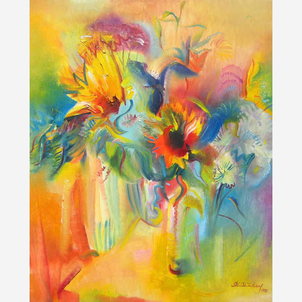 Mixed Flowers with Sunflowers. 1998 by Stephen B. Whatley