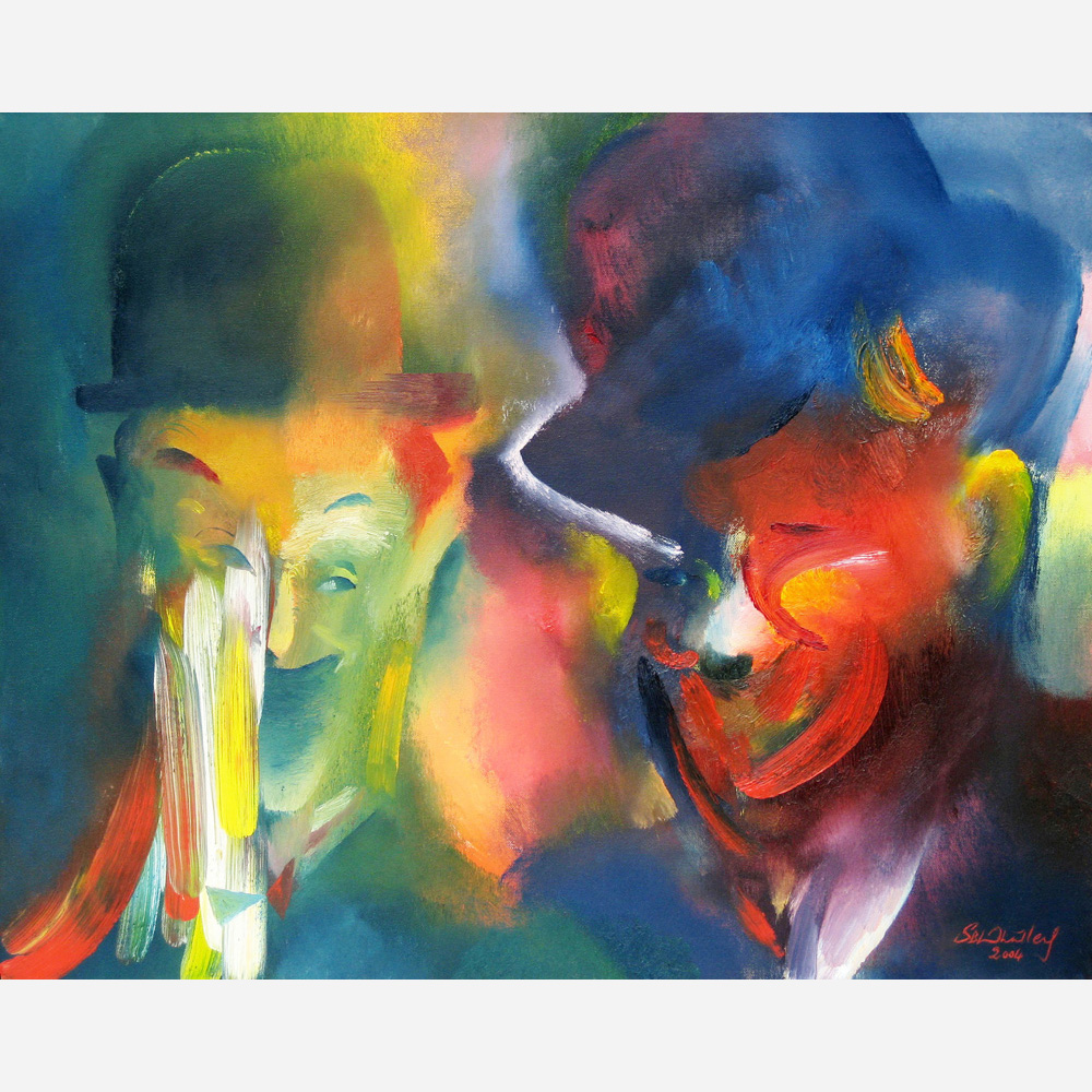 Laurel & Hardy - Tribute. 2004, by Stephen B. Whatley