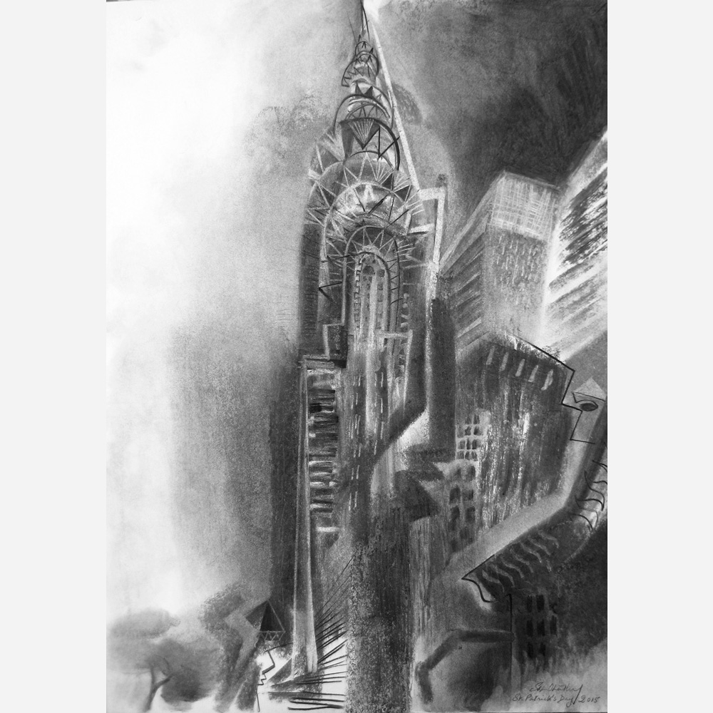 Chrysler Building, New York City. 2015 by Stephen B. Whatley