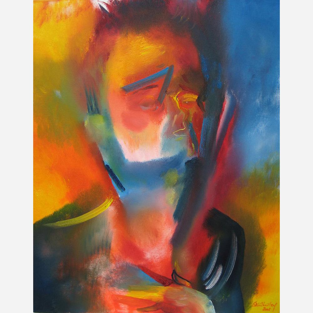 Self Portrait - My Heart. 2008, by Stephen B. Whatley