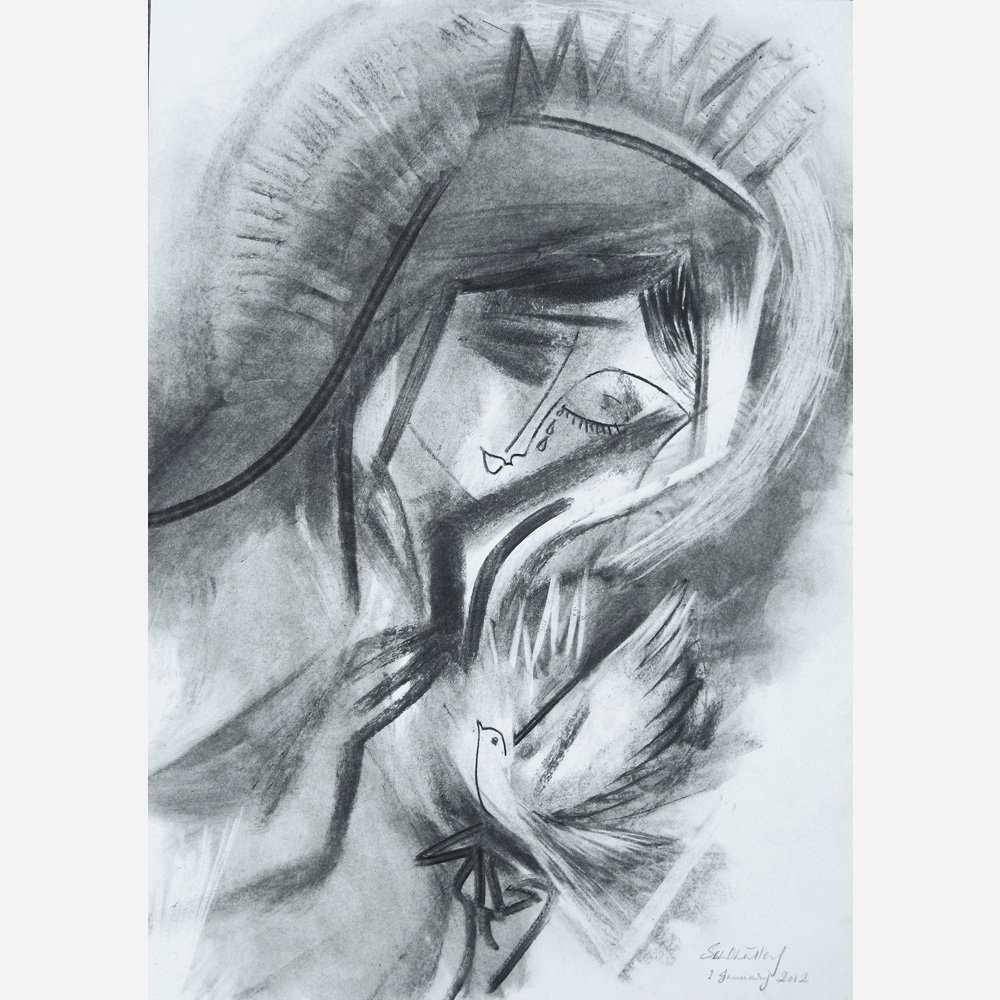 Mary, Mother of Peace. 2012, by Stephen B. Whatley
