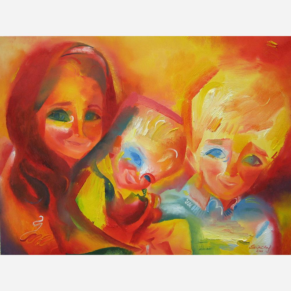 Olivia, Adam & Ryan. 2006, by Stephen B. Whatley