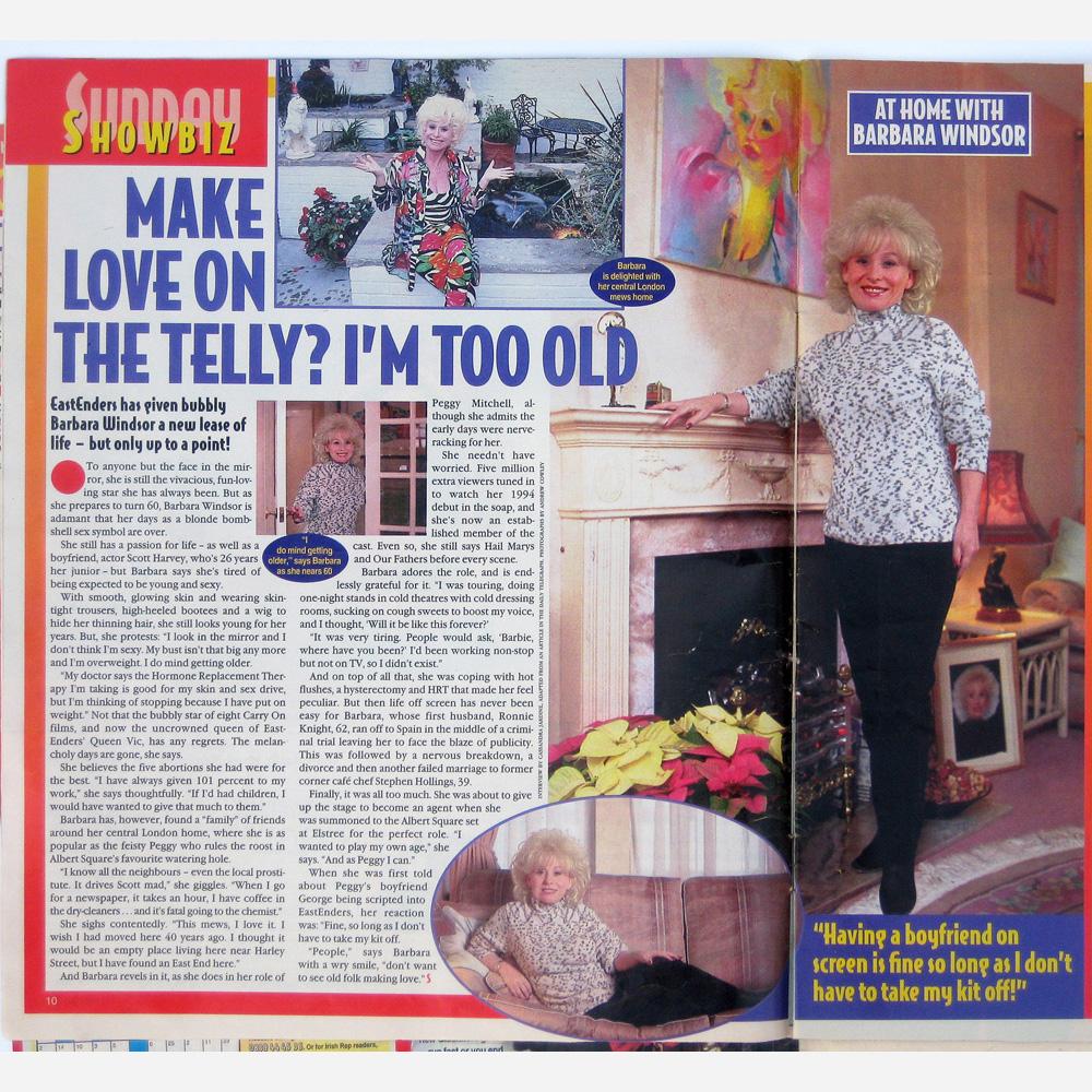 Barbara Windsor by Stephen B. Whatley - Sunday magazine 1997