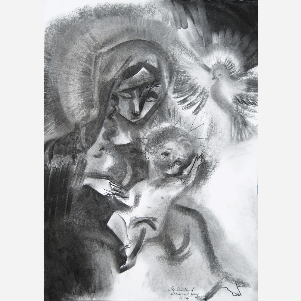 Madonna of The Blessing. 2014, by Stephen B. Whatley