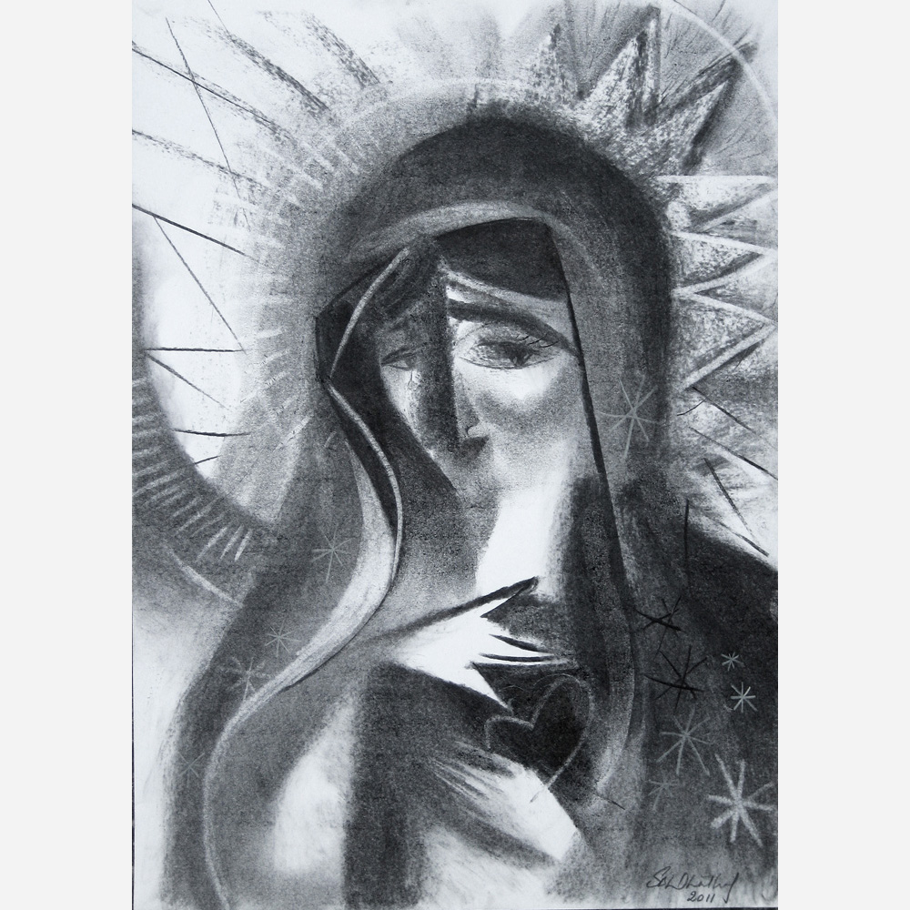 Mary, Mother of God. 2011, by Stephen B. Whatley