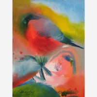 Orchard Lovers - Bullfinches 2007 by Stephen B. Whatley