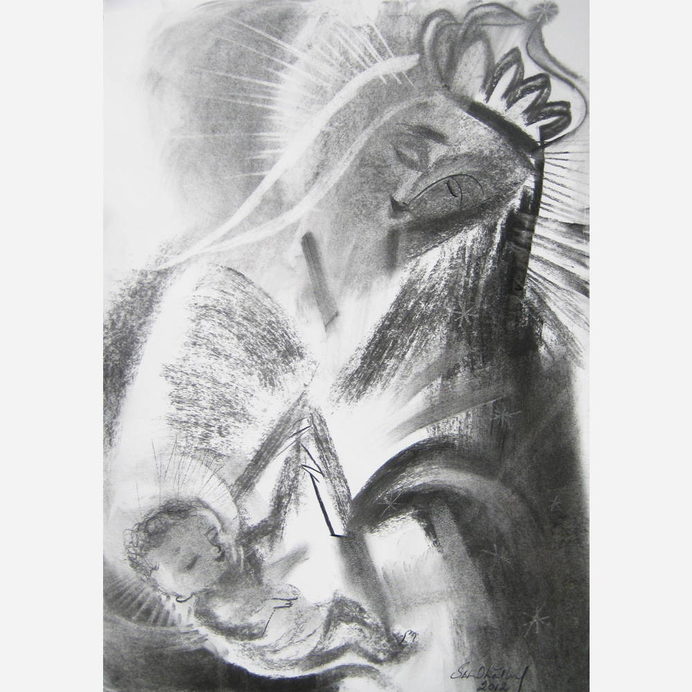 Our Lady of Altagracia (Our Lady of High Grace). 2012, by Stephen B. Whatley