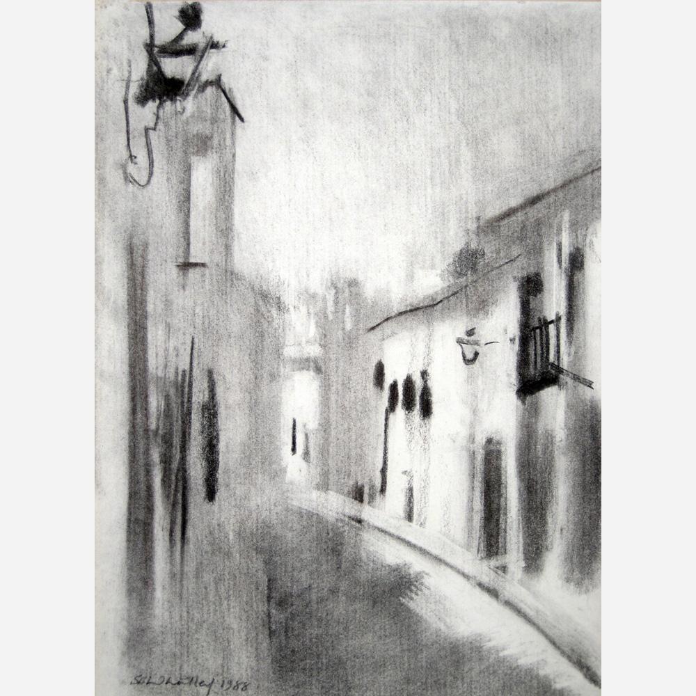 Street in Mijas, Spain. 1988 by Stephen B. Whatley