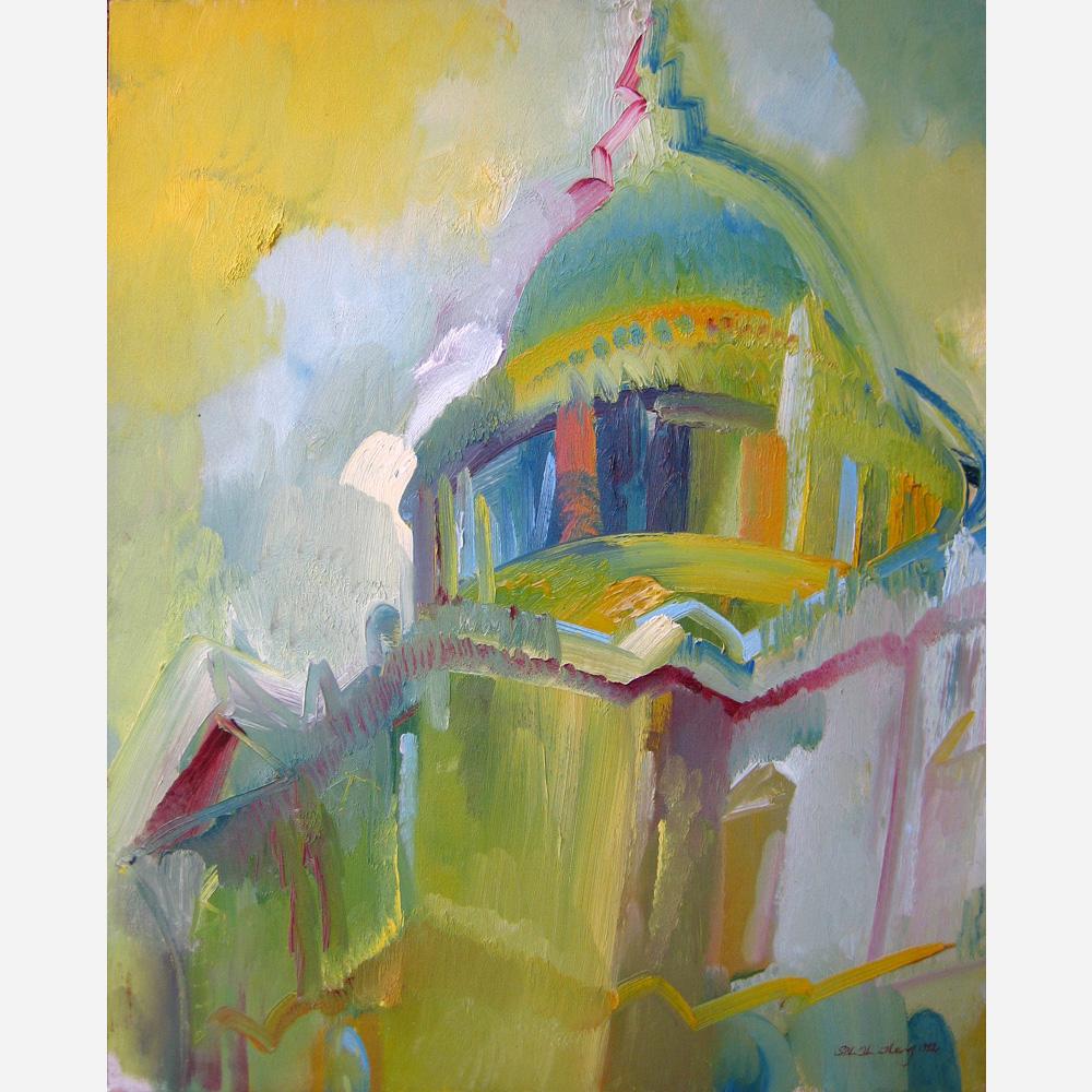 St Paul's Before The Rain. 1992, by Stephen B Whatley