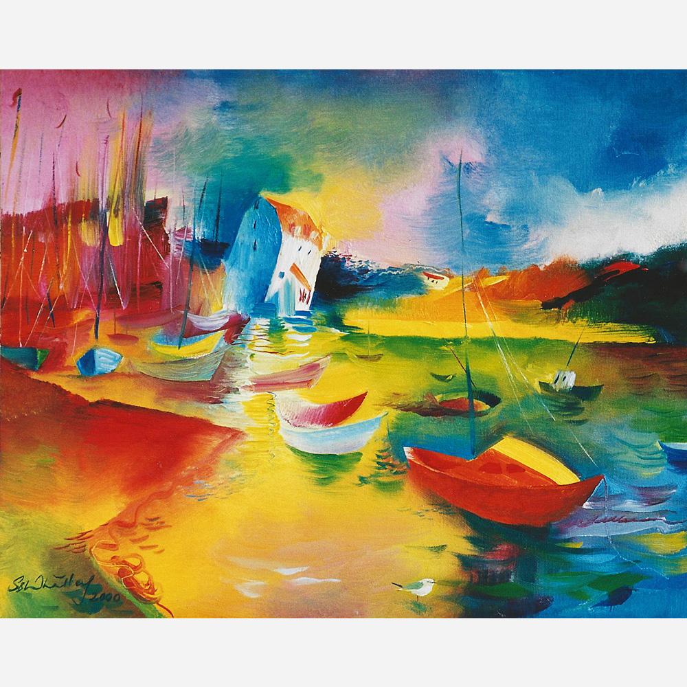 Towards The Tide Mill, Woodbridge. 2000, by Stephen B. Whatley