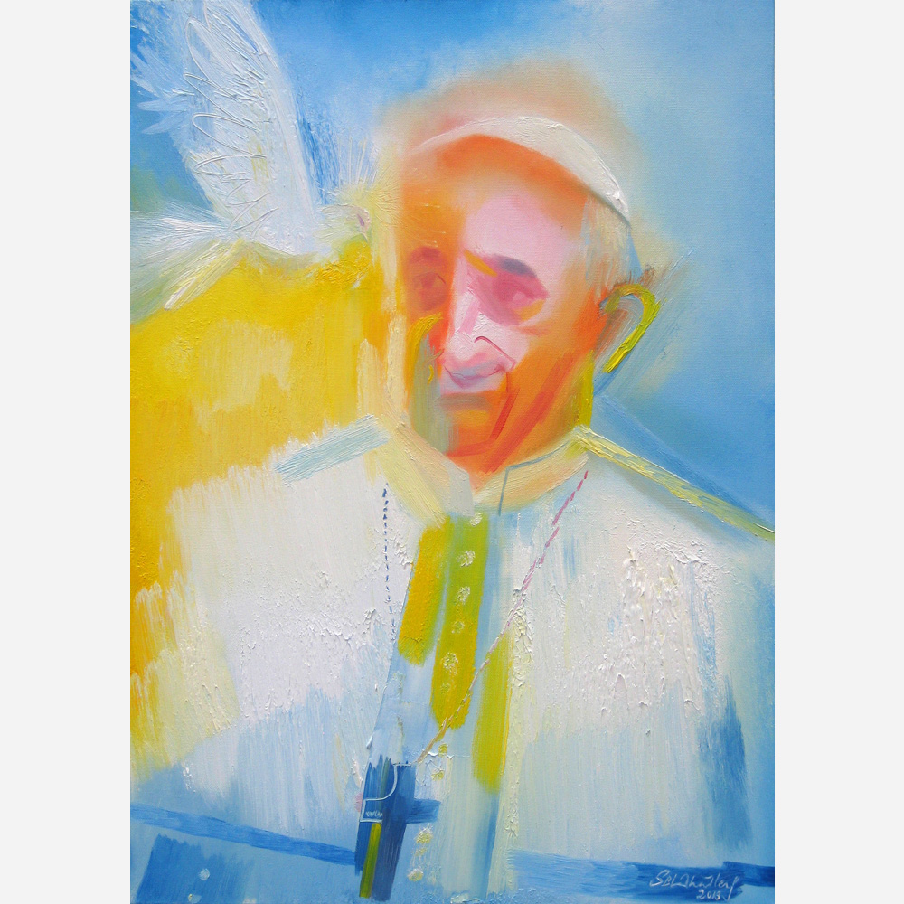 Pope Francis. 2013, by Stephen B. Whatley