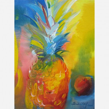 Costa Rican Pineapple & Pacific Rose Apple. 2000, by Stephen B. Whatley