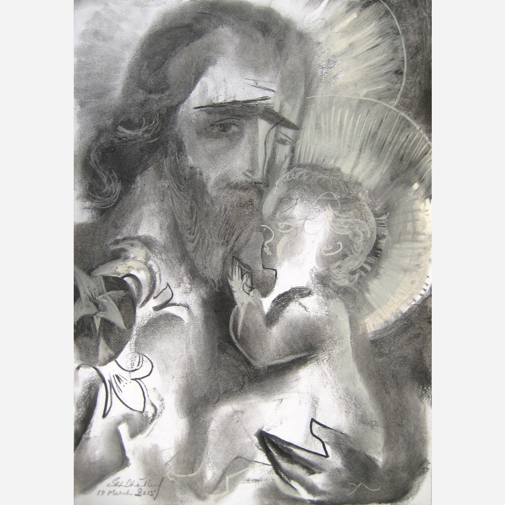Saint Joseph & The Infant Christ. 2015, by Stephen B. Whatley