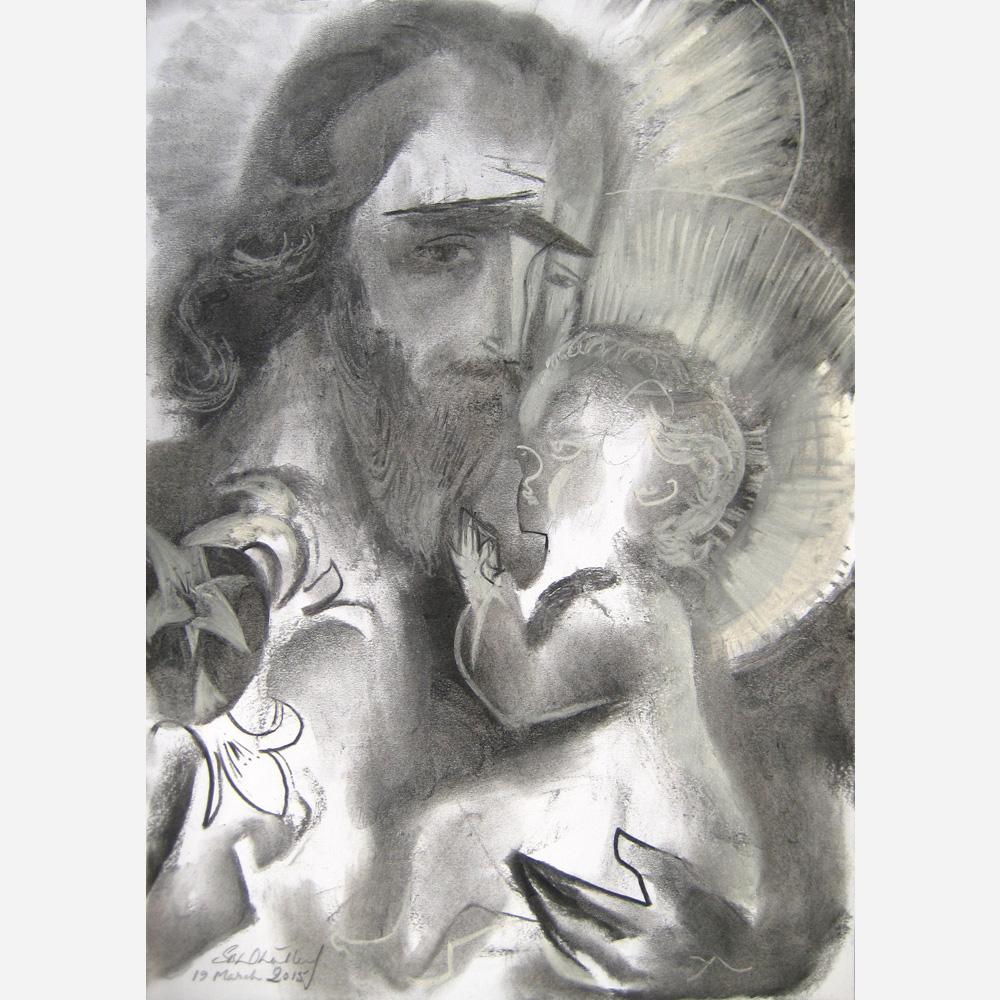 Saint Joseph & The Infant Christ. 2015, by Stephen B. Whatley
