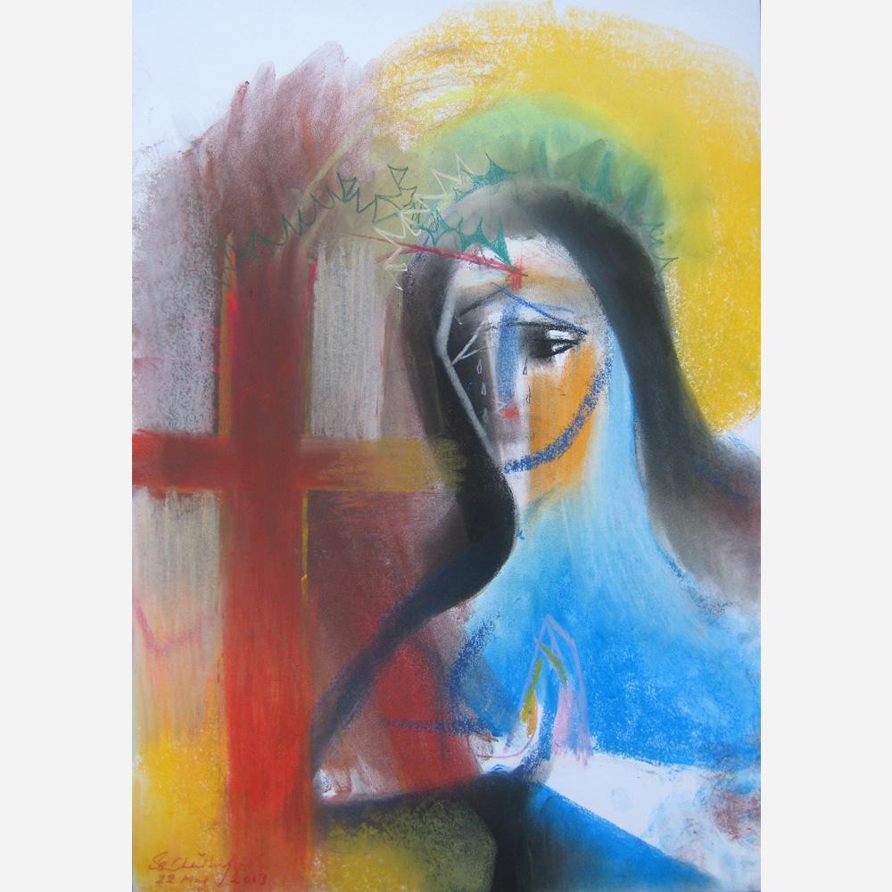 Saint Rita. 2013, by Stephen B. Whatley