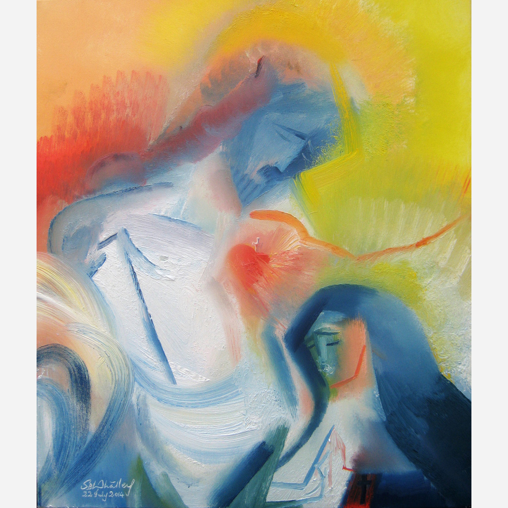 St Margaret Mary Alacoque - Tribute to The Sacred Heart. 2014 by Stephen B. Whatley