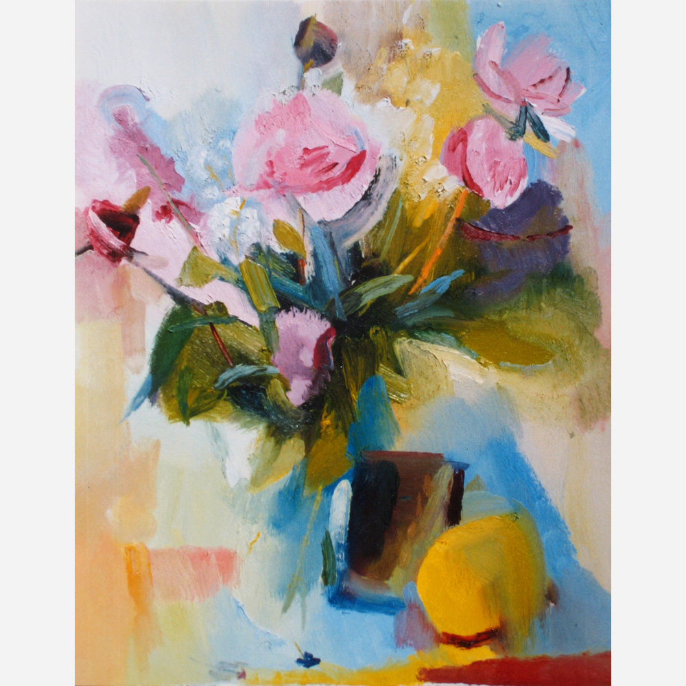 Still Life with Peonies. 1990, by Stephen B. Whatley