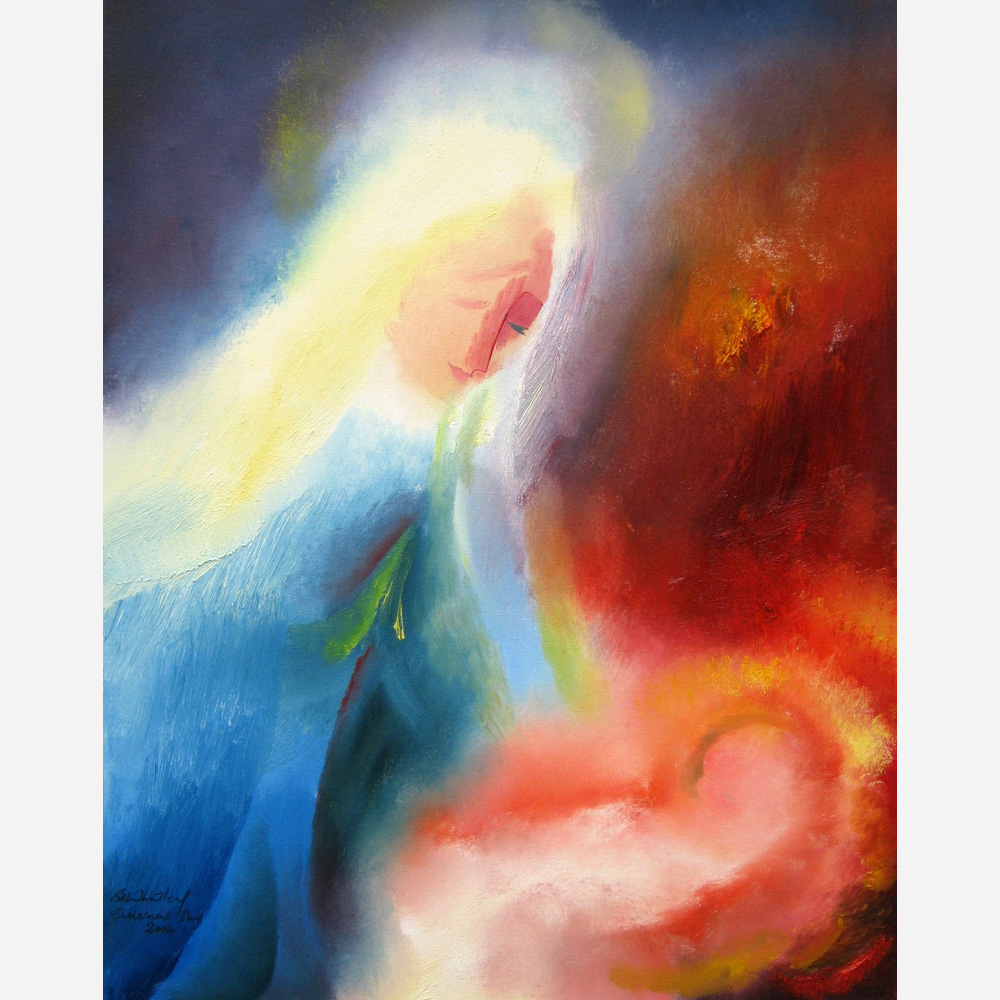 The Holy Mother & Child - Christmas Day. 2004, by Stephen B. Whatley