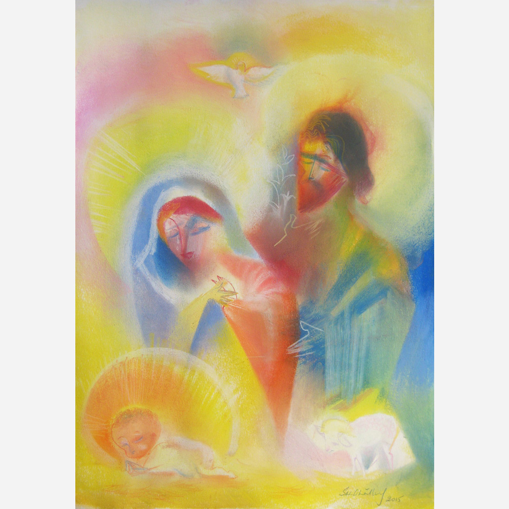 Peace of The Holy Family. 2015, by Stephen B. Whatley