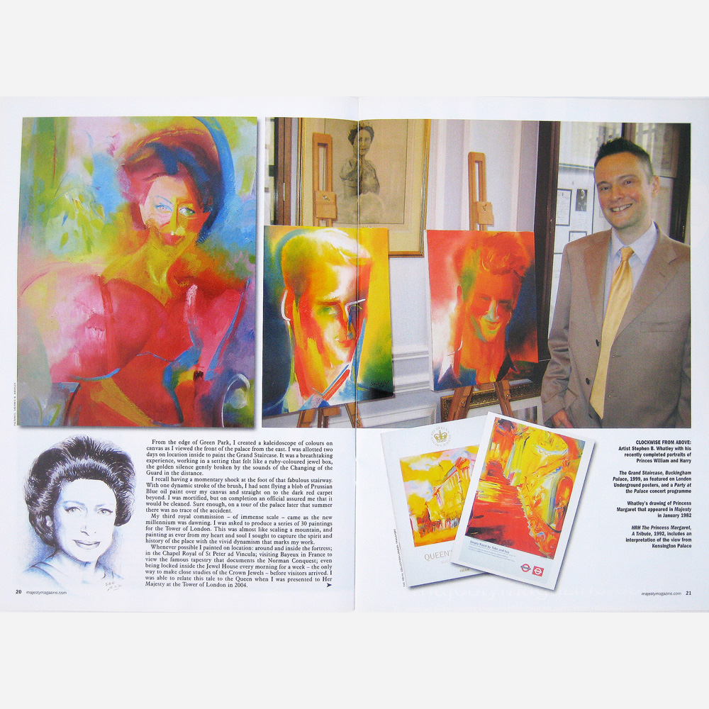 Stephen B Whatley feature on Royal commissions - Majesty magazine 2009( Pt 2)