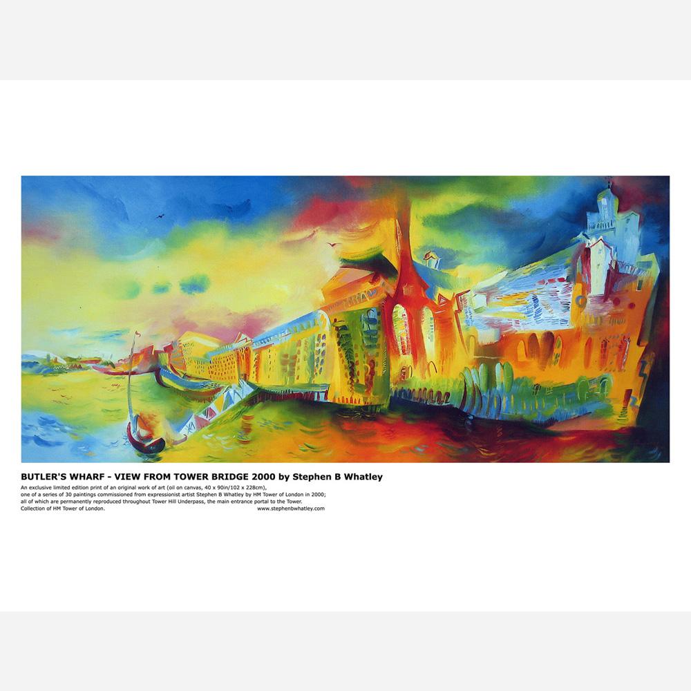 Butler's Wharf 2000 by Stephen B. Whatley - Print
