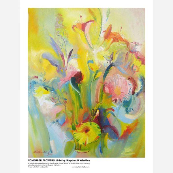 November Flowers. 1994 by Stephen B. Whatley - Print