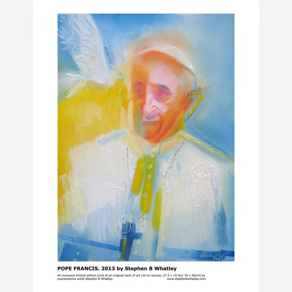 Pope Francis. 2013 by Stephen B. Whatley by Stephen B. Whatley - Print