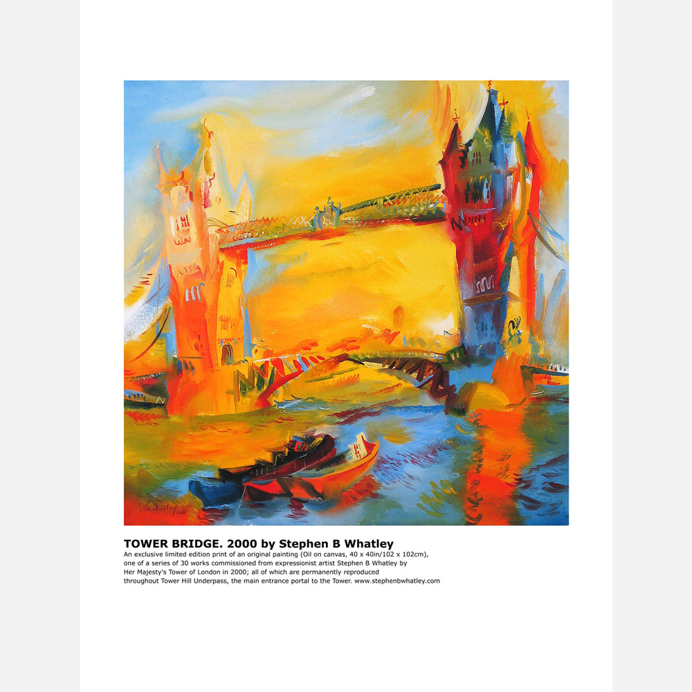 Tower Bridge 2000 by Stephen B. Whatley - Print