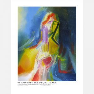 The-Sacred-heart-of-Jesus-2010-by-Stephen-B.-Whatley---Print