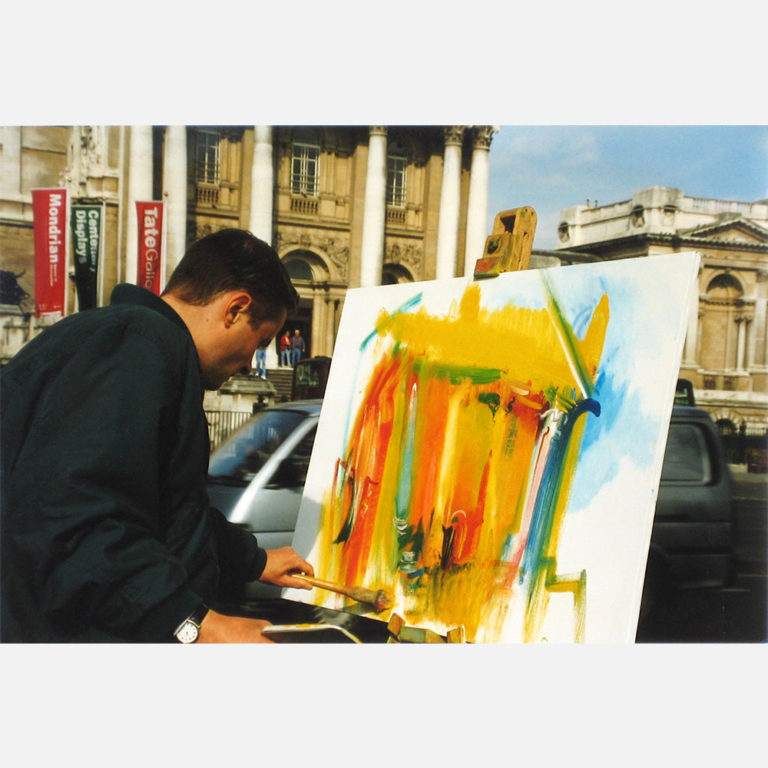 Stephen B. Whatley paints the Tate Gallery (now Tate Britain) in London - 1997