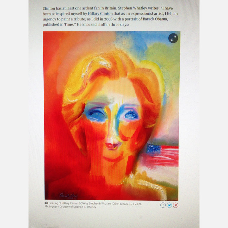Hillary Clinton by Stephen B. Whatley in The Guardian (Online edition) - 22 October 2016