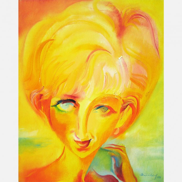 Tribute to the late Princess of Wales (1961-1997); painted on her birthday, 1 July 1998.
