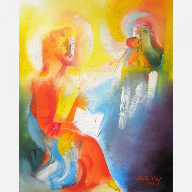 Saint Luke, Patron Saint of Artists. 2018 by Stephen B. Whatley
