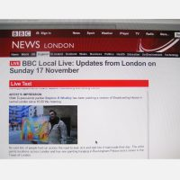 Stephen B Whatley - Live Feature on BBC London News (Online) - 17 November 2013
