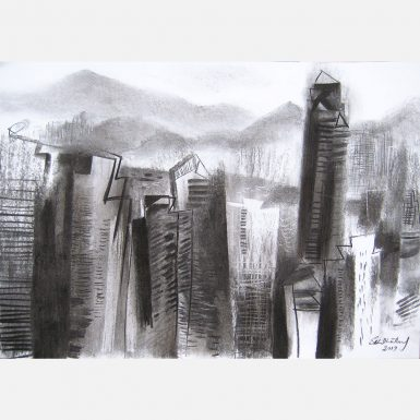 Hong Kong: View From Mid-Levels. 2019 by Stephen B. Whatley